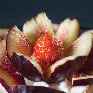 Fiore di fichi e fragola